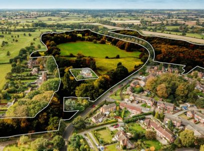 Overhead view of warwickshire police headquarters site