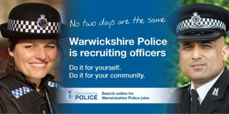 Warwickshire Police recruitment poster