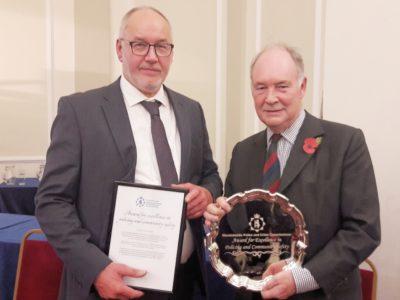 Robin Bunyard PCC Award Winner 2018 with PCC Seccombe
