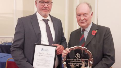 Robin Bunyard PCC Award Winner 2018 with PCC Seccombe