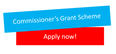 Commissioner's Grant Scheme - apply now banner