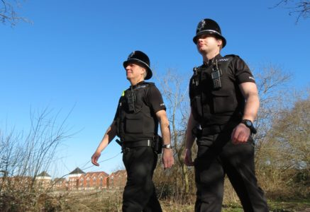 Police officers on patrol in Warwick