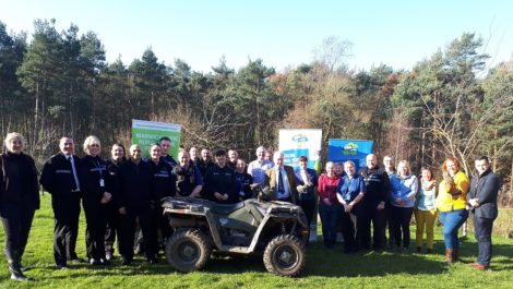 Warwickshire PCC Philip Seccombe with the officers and staff at the rural crime training