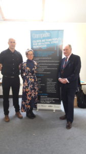 Police and Crime Commissioner Philip Seccombe (right) with representatives from Compass.