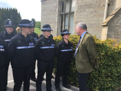 Philip Seccombe Police and Crime Commissioner for Warwickshire carrying out inspection