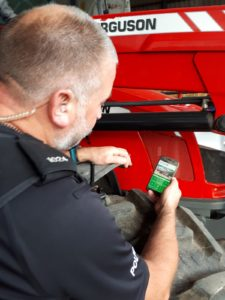 PC David Tew using Warwickshire Police Rural Crime Advice App