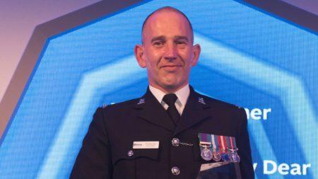 PC Andrew Dear, winner of the National Police Bravery Award 2019