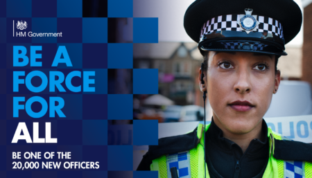 Be a force for all - national police officer recruitment banner