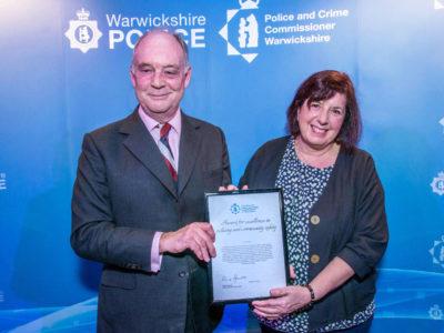 PCC Philip Seccombe with Ann Johnson