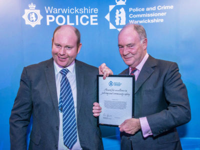 PCC Philip Seccombe with Christopher Langman