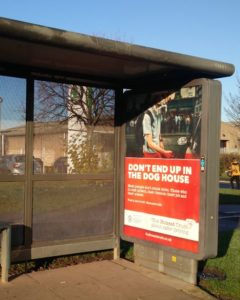 The Honest Truth bus shelter graphics