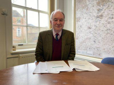 Philip Seccombe at his desk