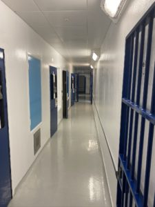 A police custody suite