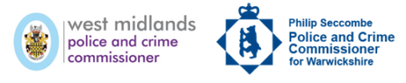 West Midlands PCC and Warwickshire PCC logo banner