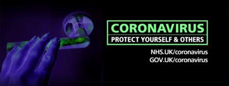 Coronavirus protect yourself & others NHS.UK/coronavirus, GOV.UK/coronavirus