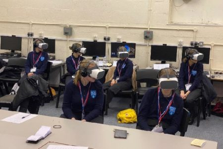 Police Cadets try out virtual reality headsets