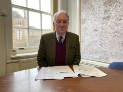 Warwickshire Police and Crime Commissioner Philip Seccombe at his desk