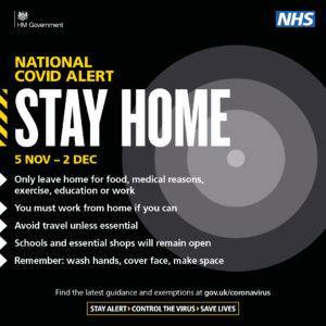Stay Home 5 Nov -2 Dec