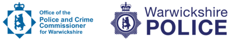 Office of the Police and Crime Commissioner and Warwickshire Police logos